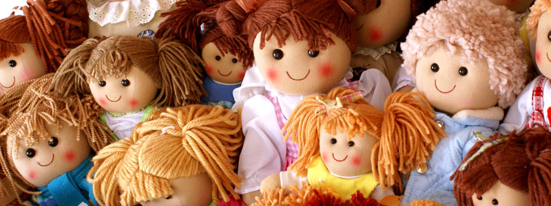 A pile of dolls